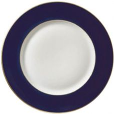 Richard Ginori Charger Plate Dark Blue with Gold Rim